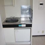 IHコンロ&ミニ冷蔵庫付きのキッチンです。