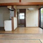 1階のキッチン、ダイニング、和室です。